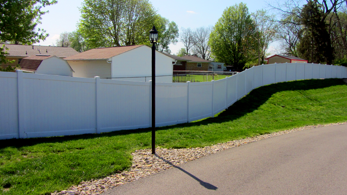 Enjoy added privacy and security with a vinyl fence